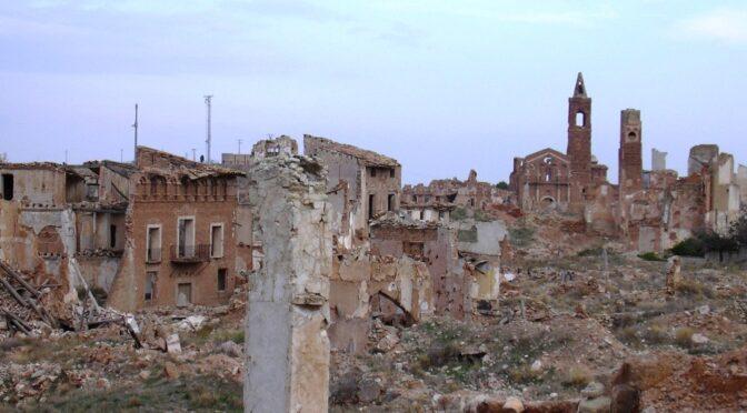 BelchitE, Ruines-fantômes de la guerre d'Espagne
